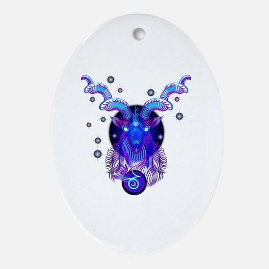 Unique Capricorn Oval Ornament