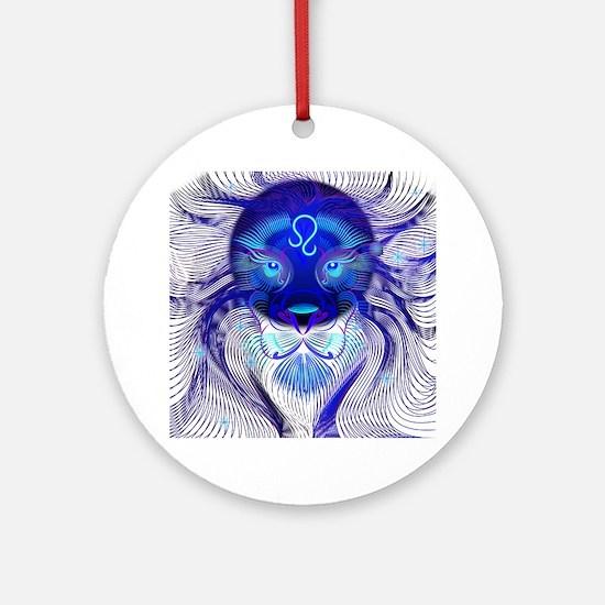 Cool Leo Round Ornament