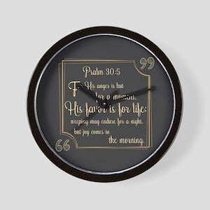 Bible Verse Gift Psalm 30:5 Wall Clock