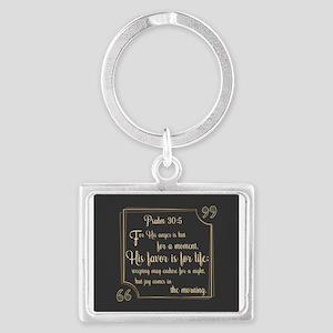 Bible Verse Gift Psalm 30:5 Landscape Keychain