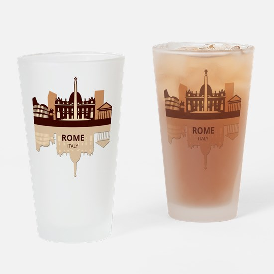 Cute Skyscrapers Drinking Glass