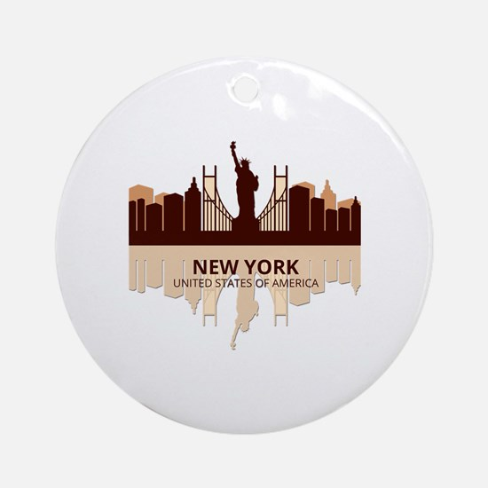 Cute International cities Round Ornament