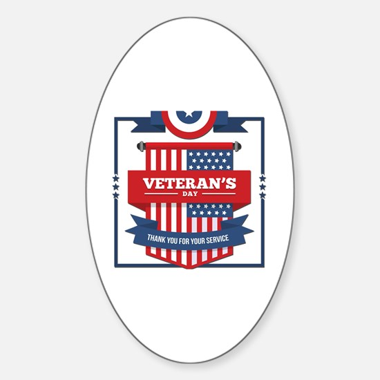 Funny Veterans day Sticker (Oval)