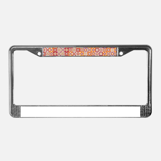 Cute Bright red circle License Plate Frame