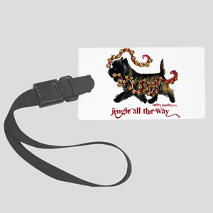Jingle Cairn Terrier Luggage Tag