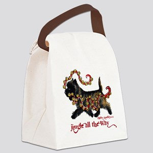 Jingle Cairn Terrier Canvas Lunch Bag
