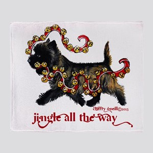 Jingle Cairn Terrier Throw Blanket