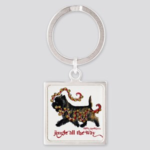 Jingle Cairn Terrier Keychains