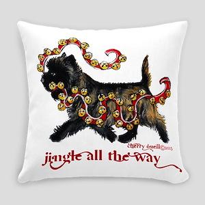 Jingle Cairn Terrier Everyday Pillow