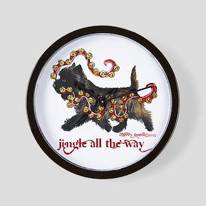 Jingle Cairn Terrier Wall Clock