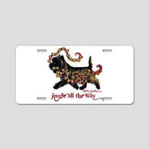 Jingle Cairn Terrier Aluminum License Plate