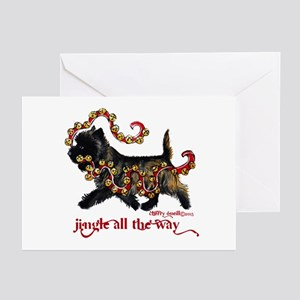 Jingle Cairn Terrier Greeting Cards