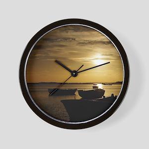 Fishing Boats in Cacela Velha Wall Clock
