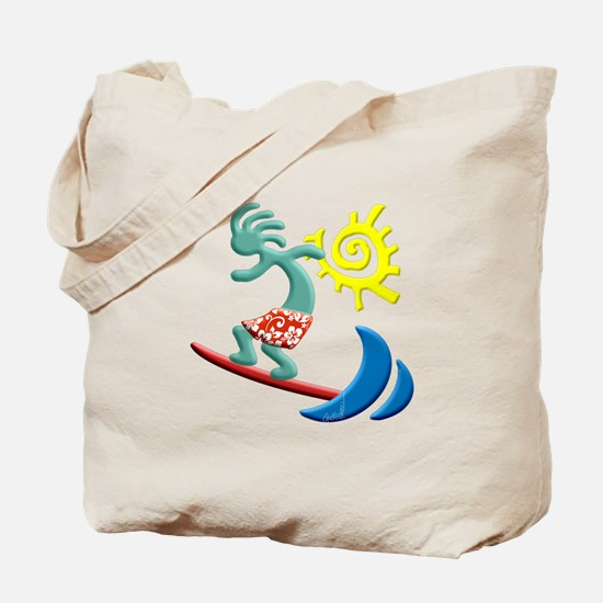 Kokopelli Surfer Tote Bag