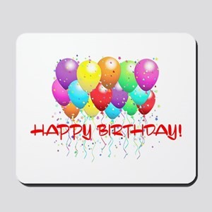 HAPPY BIRTHDAY BALLOONS Mousepad