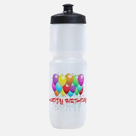 HAPPY BIRTHDAY BALLOONS Sports Bottle