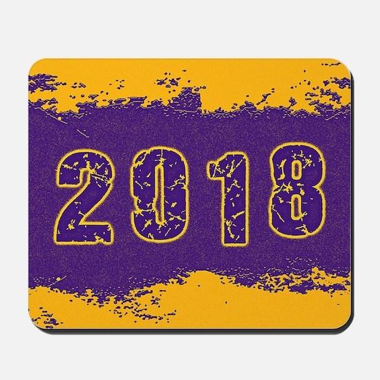 2018 Purple Gold Mousepad