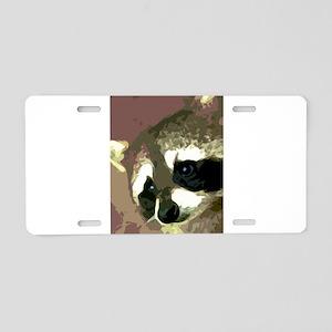 Raccoon Eyes Aluminum License Plate