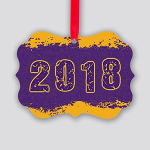 2018 Purple Gold Picture Ornament