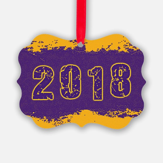 2018 Purple Gold Ornament