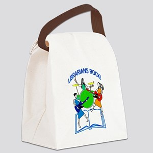 Librarians Rock! Canvas Lunch Bag