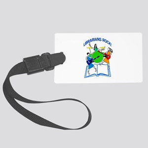 Librarians Rock! Large Luggage Tag