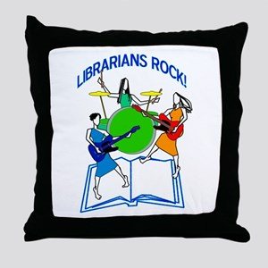 Librarians Rock! Throw Pillow