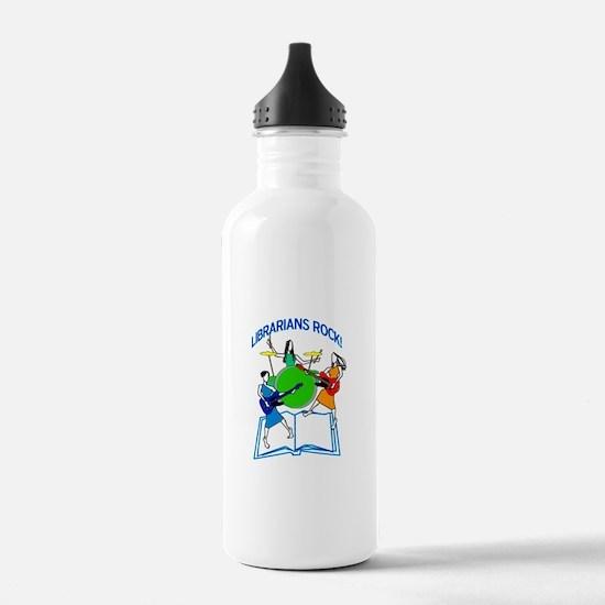 Librarians Rock! Water Bottle