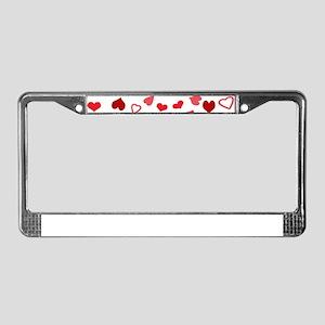 Hearts a'Plenty License Plate Frame