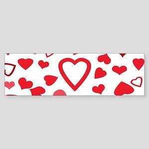 Hearts a'Plenty Bumper Sticker