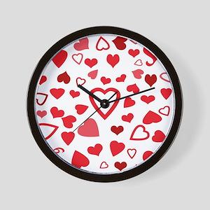 Hearts a'Plenty Wall Clock