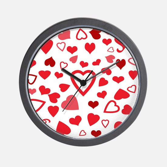 Hearts a'Plenty Wall Clock