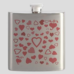 Hearts a'Plenty Flask