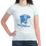 COWS - they'd eat you if they Jr. Ringer T-shirt