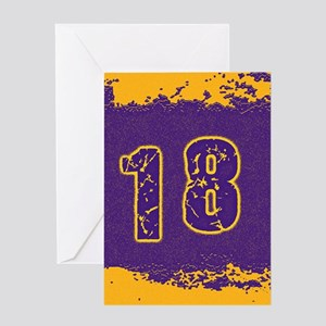 2018 Purple Gold Greeting Cards