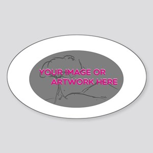 Your Image Here Oval Sticker