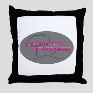 Your Image Here Oval Throw Pillow