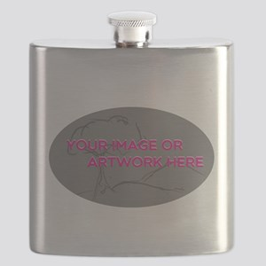 Your Image Here Oval Flask
