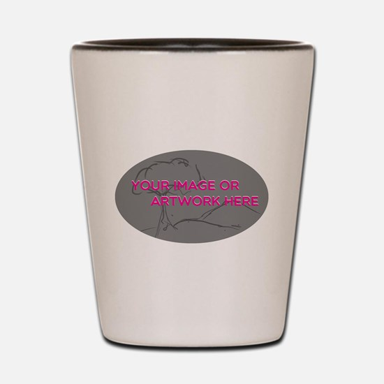 Your Image Here Oval Shot Glass