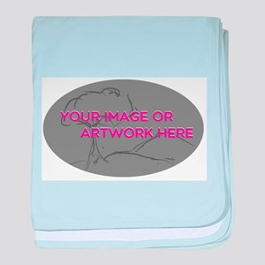 Your Image Here Oval baby blanket