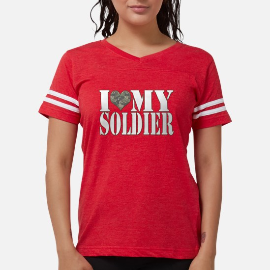 I Love My Soldier Women's Dark T-Shirt