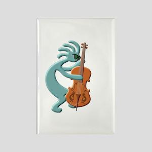 Jazz Bass Player Rectangle Magnet