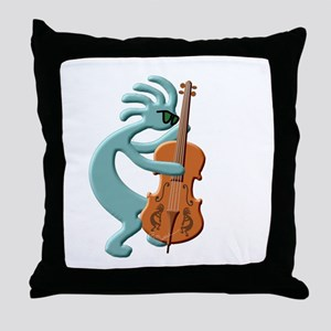 Jazz Bass Player Throw Pillow