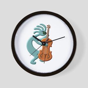 Jazz Bass Player Wall Clock