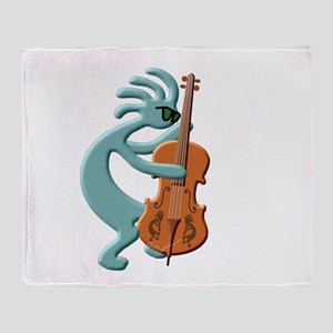 Jazz Bass Player Throw Blanket