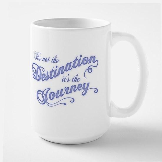 Destination Journey -txt Large Mug