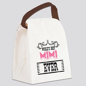 World's Best Mimi Ever Canvas Lunch Bag