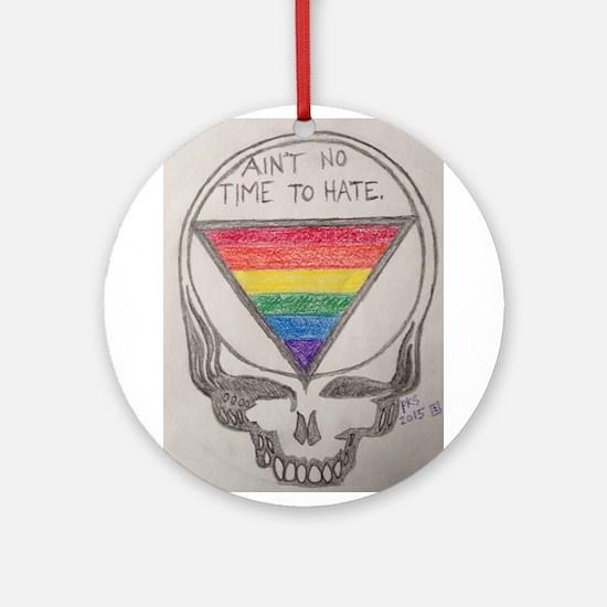 Hate Free Zone Round Ornament