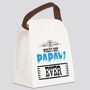 World's Best Papaw Ever Canvas Lunch Bag