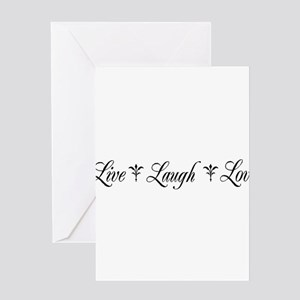 Live, Laugh, Love Greeting Cards